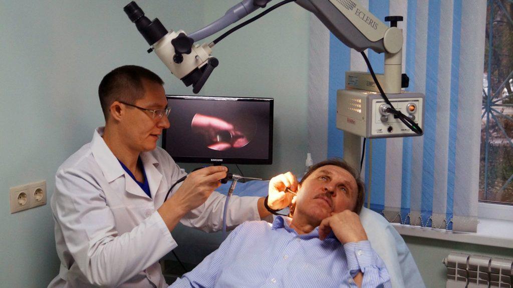 Диагностика грибка в ухе
