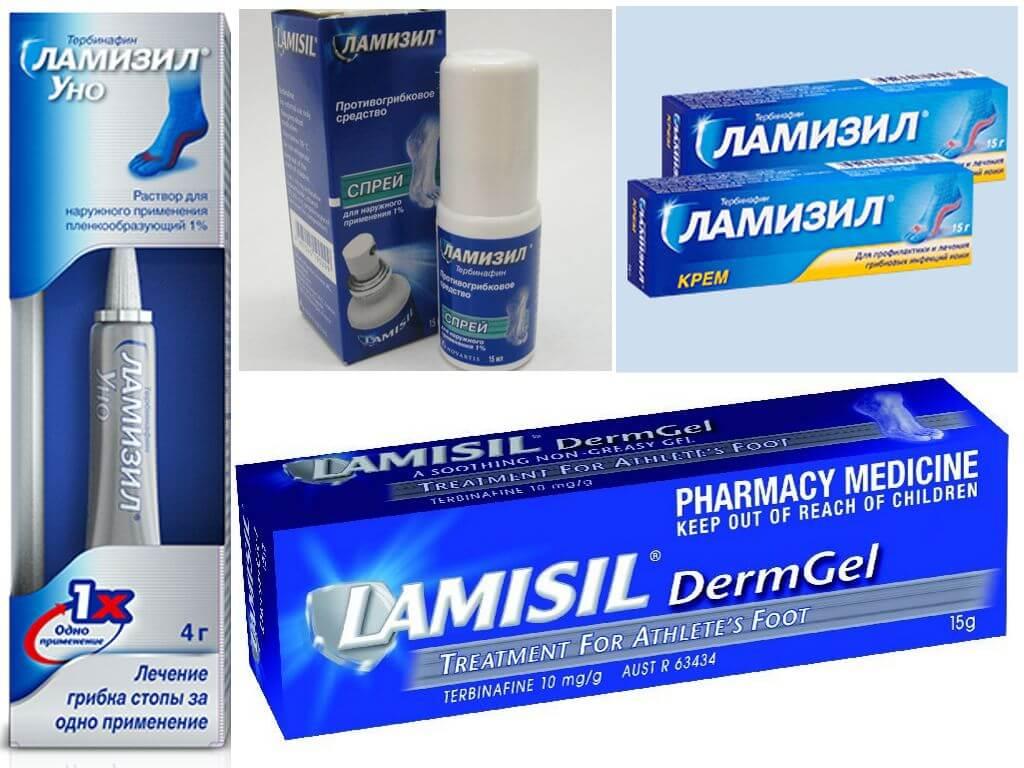 Ламизил от грибка ногтей: лак, мазь, спрей и таблетки